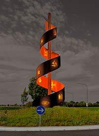 Salix-Skulptur in Büttgen Fotomontage: Klaus Stevens