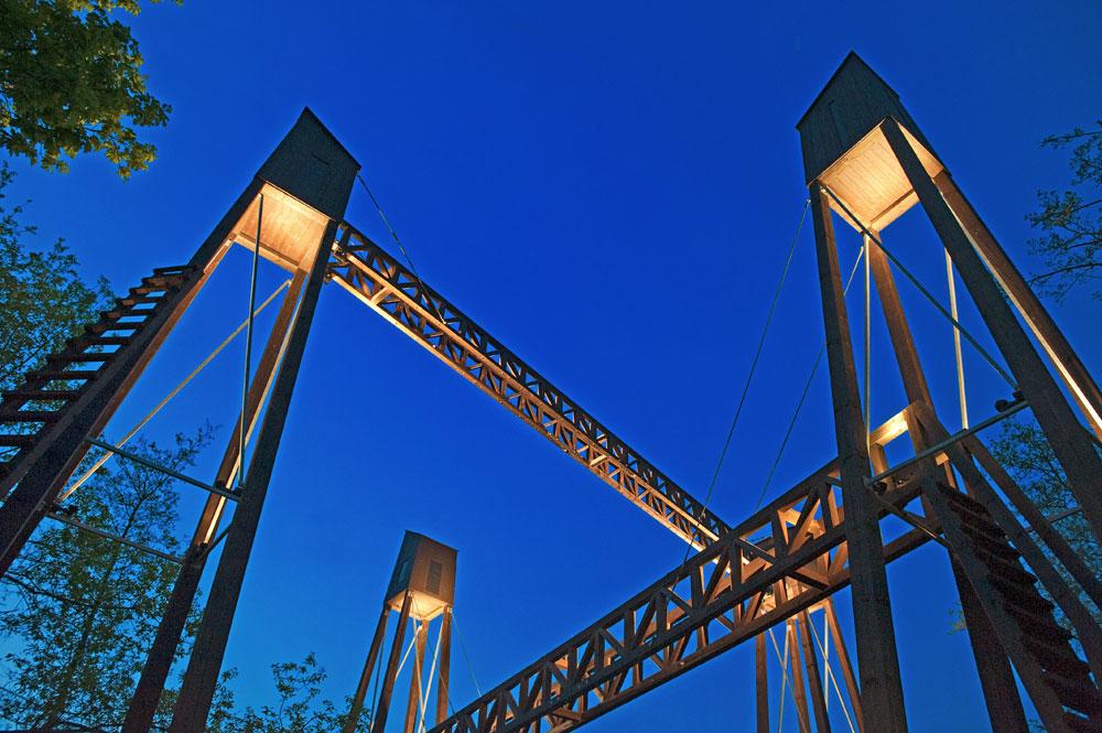 Detail der Brücke am Nordkanal von Wilhelm Schiefer / Foto: Copyright by Klaus Stevens