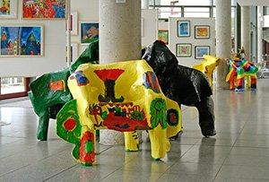 Ausstellung von Arbeiten des Kunstcáfes in der Rathausgalerie Kaarst