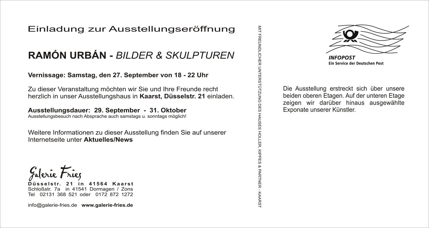 Galerie Fries Einladungskarte Text
