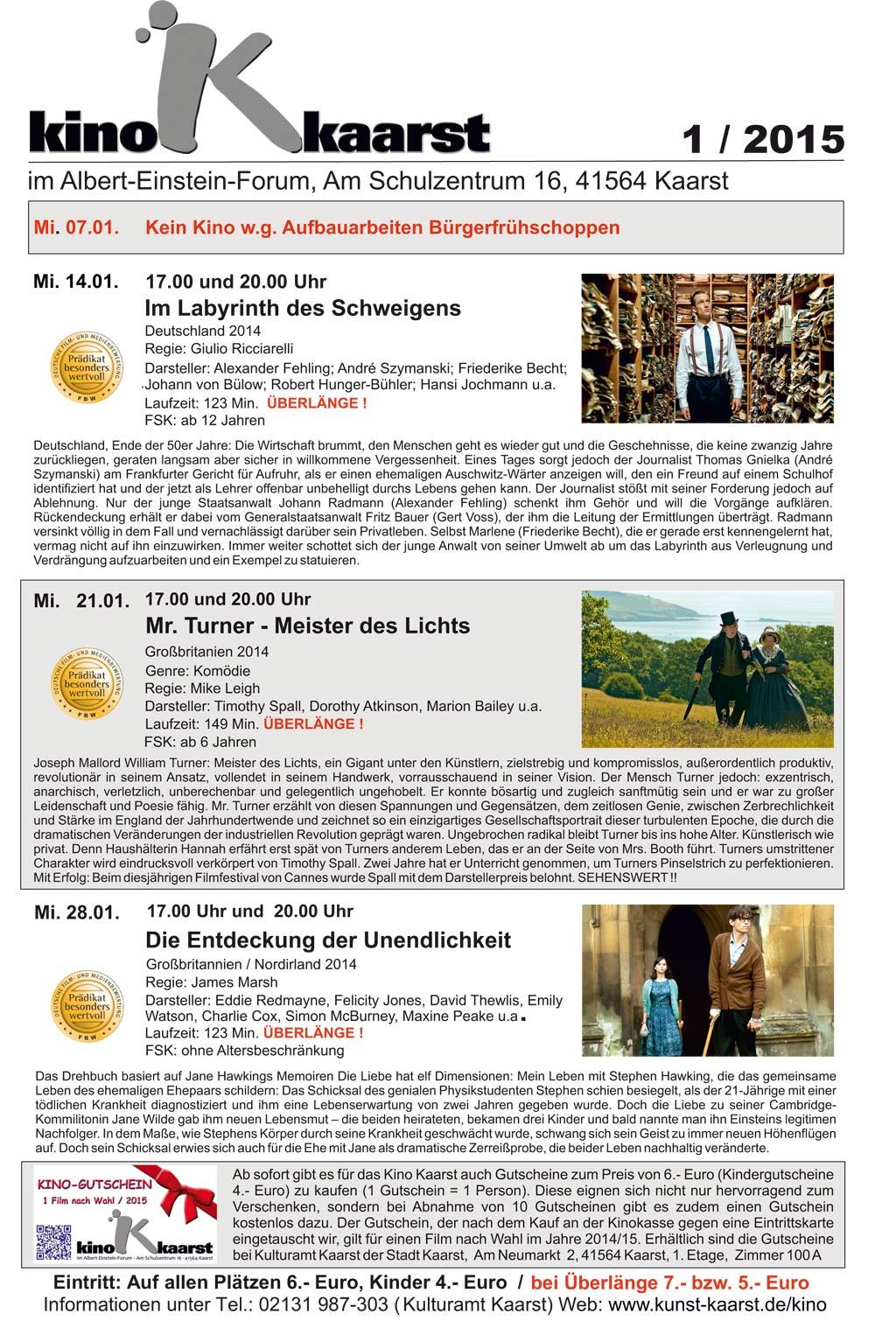 Kino Ochsenfurt Monatsprogramm