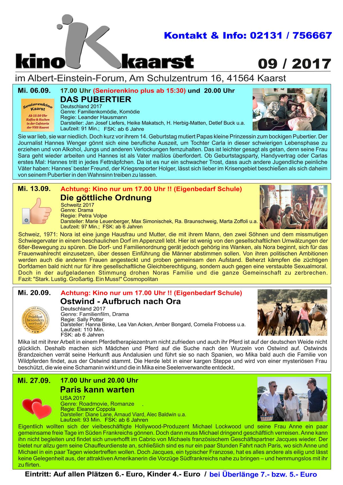 Monatsprogramm-Kino-Kaarst-September