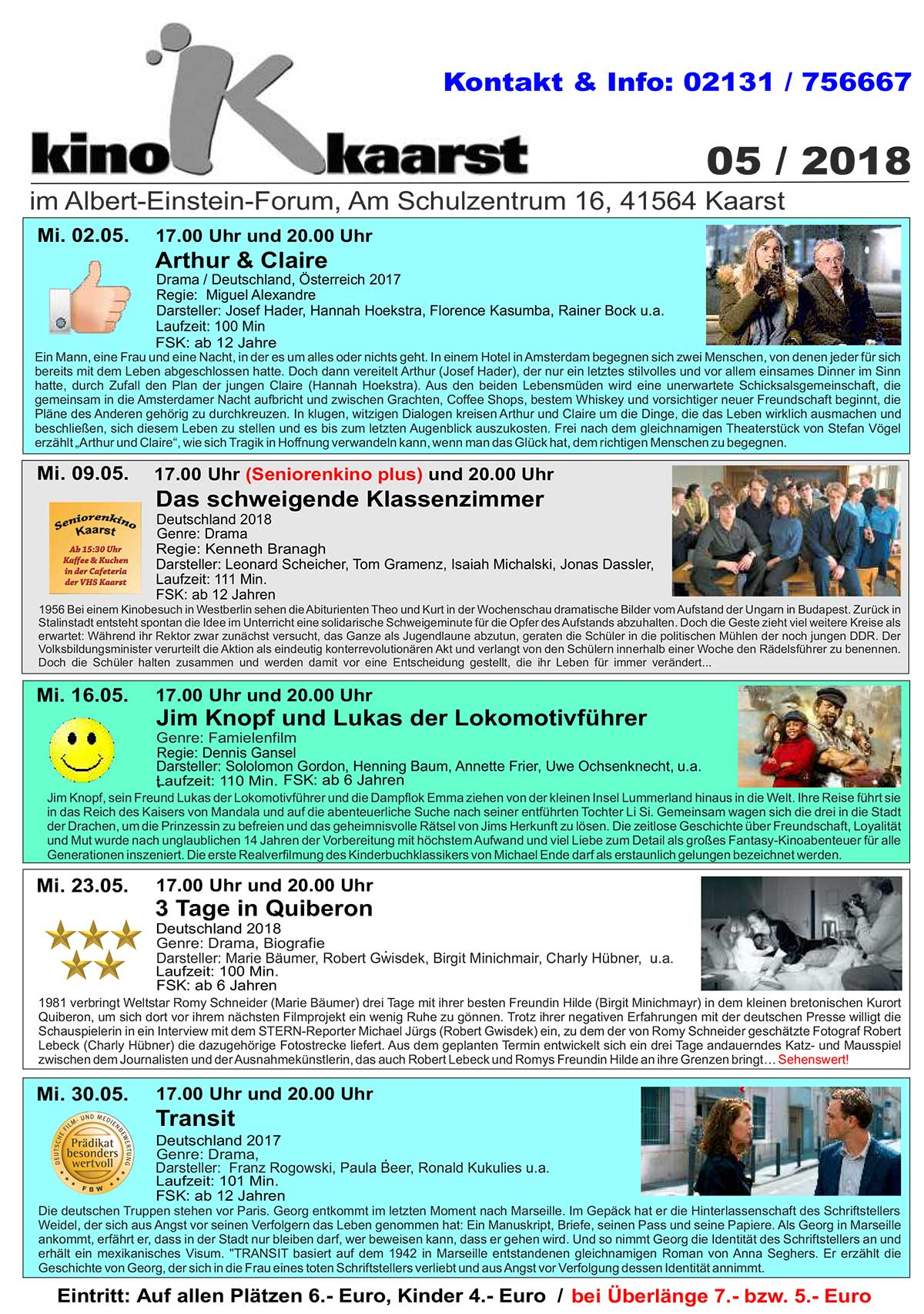 Monatsprogramm Mai