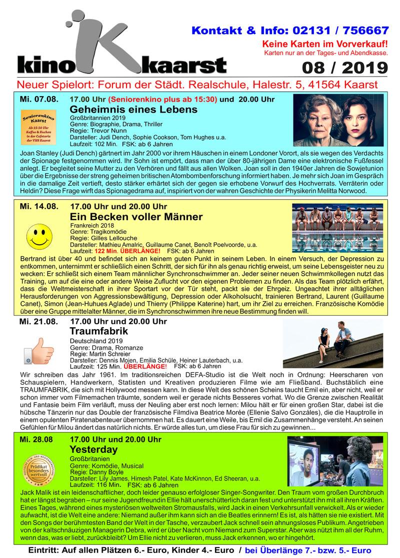 Kinoprogramm August